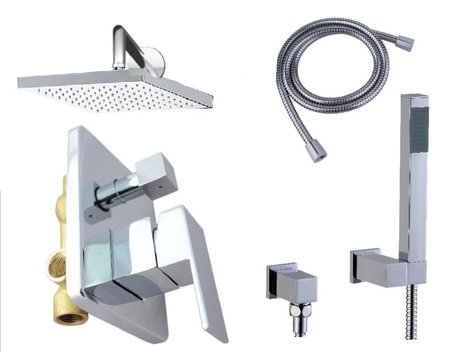 design regendusche set unterputz armatur einhandmischer vert komplett set rea. Black Bedroom Furniture Sets. Home Design Ideas